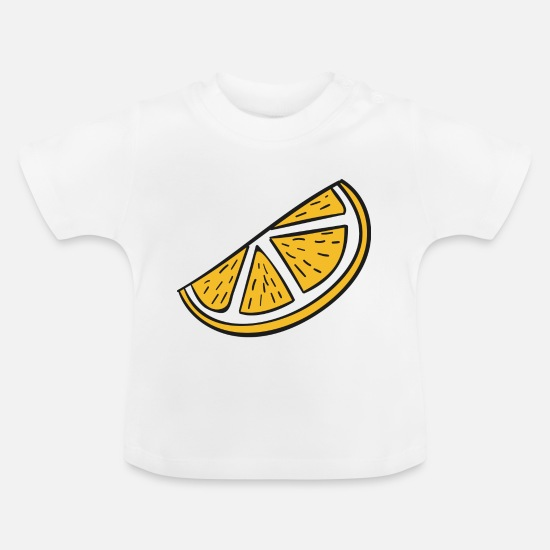 Orange Juice Baby Clothes - orange slice - Baby T-Shirt white