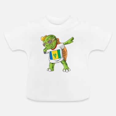 St. Vincent and the Grenadines Dabbing turtle - Baby T-Shirt