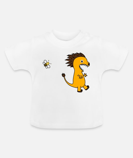 Bumble Bee Baby T-Shirts - Cute creature flees from a harmless bee - Baby T-Shirt white
