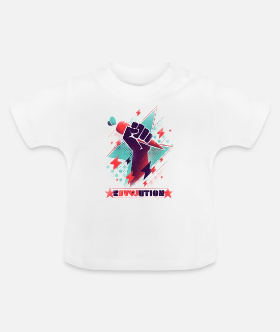 Anarchy Baby T-Shirts - Revolution - Baby T-Shirt white