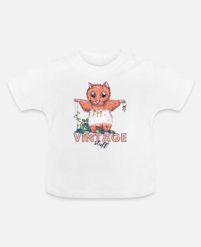 Sassy Baby T-Shirts - Vintage hamster - Baby T-Shirt white