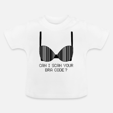 Drawing Underwear Can I Scan Your Bra Code? (Black) - Baby T-Shirt