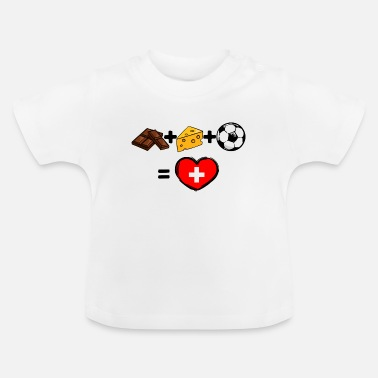 Équipe Nationale Équipe nationale de football de la Suisse - T-shirt Bébé