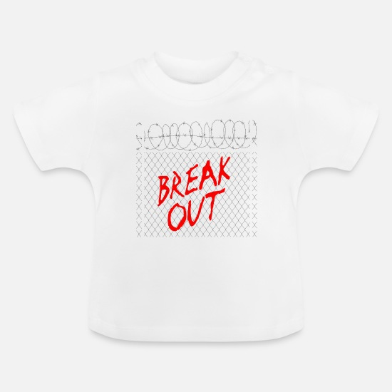 Politics Baby Clothes - Breaking out - Baby T-Shirt white