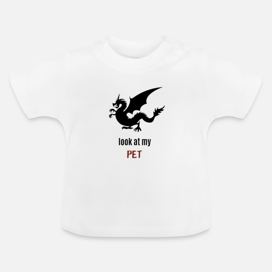 Citations Vêtements Bébé - Mon animal de compagnie - dragon - T-shirt Bébé blanc