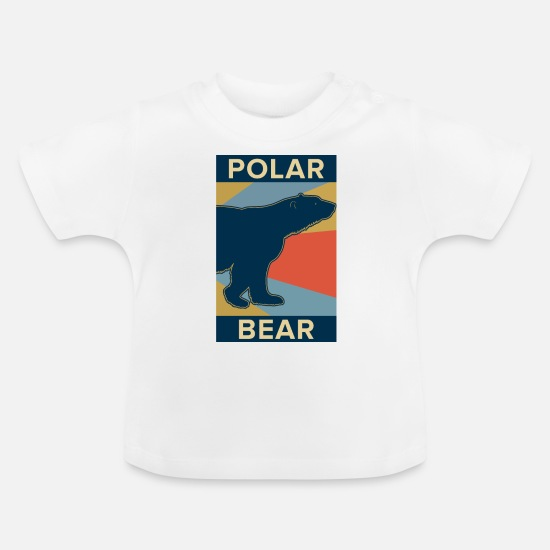 Animal Rights Activists Baby Clothes - polar bear - Baby T-Shirt white
