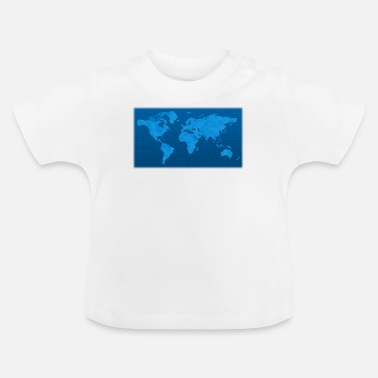 Blue earth with background, world map - Baby T-Shirt