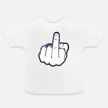 Finger Middle finger cartoon - Baby T-Shirt