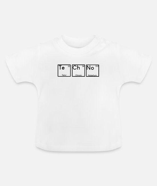 Techno Music Baby T-Shirts - Techno Elemente - Baby T-Shirt Weiß