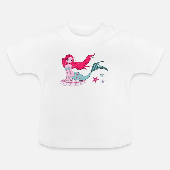 Mermaid Baby Clothes - Mermaid - Baby T-Shirt white