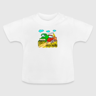 Harvest Combine harvester and tractor at harvest - Baby T-Shirt