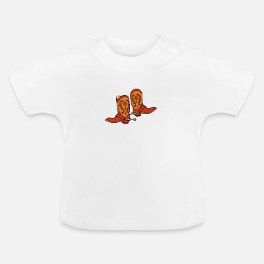 Ordina Online T Shirt Neonato Con Tema Stivali Da Cowboy Spreadshirt