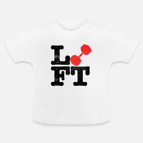 Weightlifting Baby Clothes - weightlifting - Baby T-Shirt white