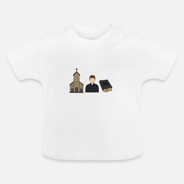 Catholique Prêtre catholique catholique église christ - T-shirt Bébé