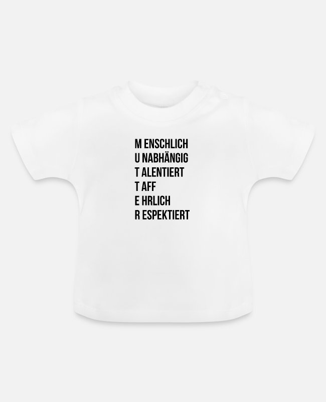 Mummy Baby T-Shirts - mutter definition - Baby T-Shirt Weiß
