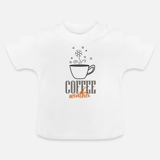Espresso Baby Clothes - Have a morning espresso cappuccino to be alive - Baby T-Shirt white