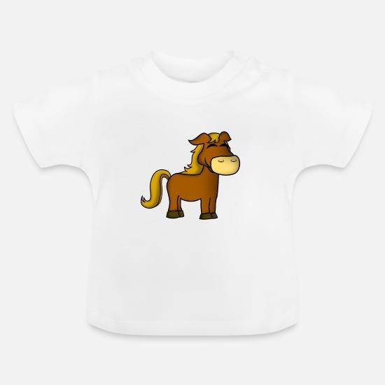 3843f45ed Hesteridning Hestesport · Små Baby-T-skjorte - hvit