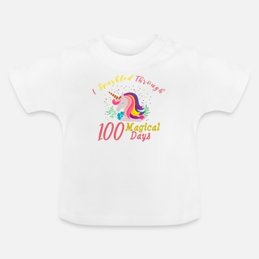 School 100 Days of School for Kindergarten Elementary - Baby T-Shirt