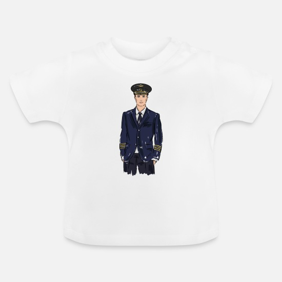 Birthday Baby Clothes - pilot - Baby T-Shirt white