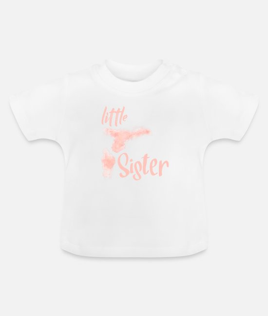 Little Sister Baby Clothes - Little sister gift - Little Sister - Baby T-Shirt white