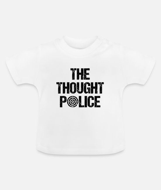 110 Baby shirts - politie - Baby T-shirt wit