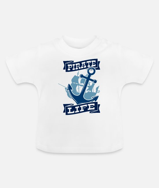 Oogklep Baby shirts - Piraten leven - Baby T-shirt wit