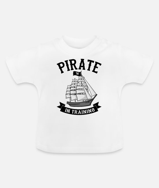 Oogklep Baby shirts - Piraat in training - Baby T-shirt wit