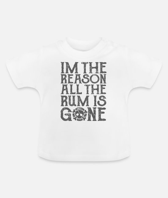 Oogklep Baby shirts - De rum is weg - Baby T-shirt wit