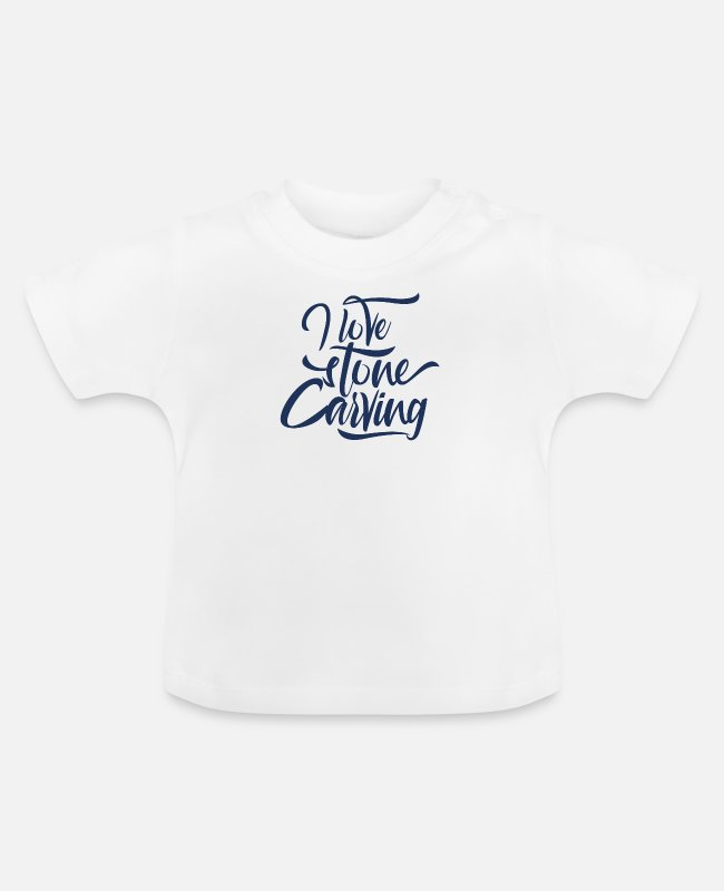Occupation Baby T-Shirts - Stone carving sculptor Steinmetz stones profession - Baby T-Shirt white