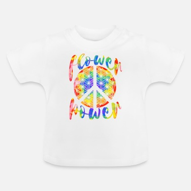 Hippie Flower Power Flower of Life Hippie Design - T-shirt baby