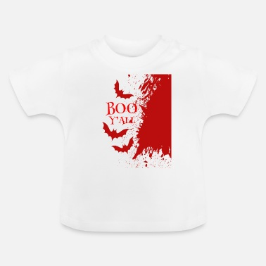 Boo Y'all Halloween Design Fledermäuse Blut - Baby T-Shirt