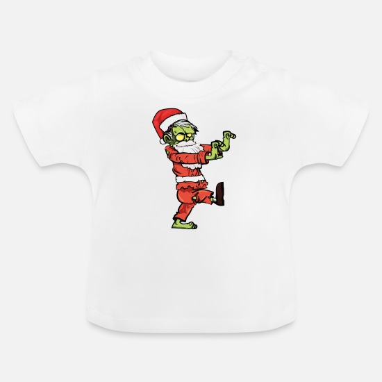 Zombie Baby Clothes - Christmas Design for Xmas Lovers - Baby T-Shirt white