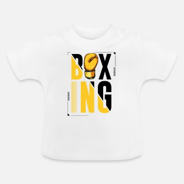 Letter Boxing Boxing lettering boxing gloves boxer gift - Baby T-Shirt
