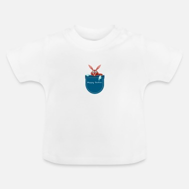 Rabbit Pocket rabbit pocket rabbit easter happy easter - Baby T-Shirt