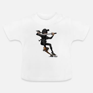 Ramp cool skater ninja gift for skateboard ninjas - Baby T-Shirt