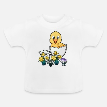 Eggshell Happy east spring spring fever chick - Baby T-Shirt