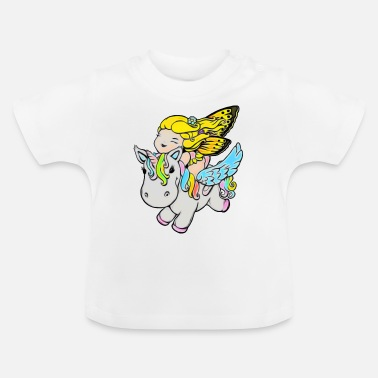 Unicorn with fairy Pegasus - Baby T-Shirt