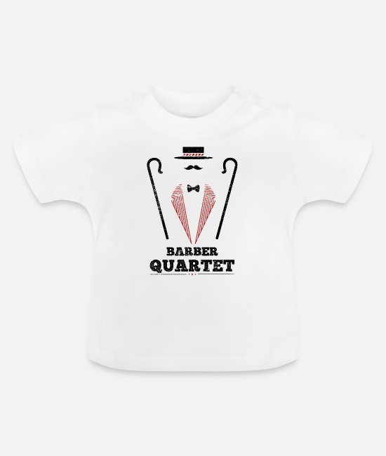 To Sing Baby Clothes - Uniform, mustache, gift, hipster, barber - Baby T-Shirt white