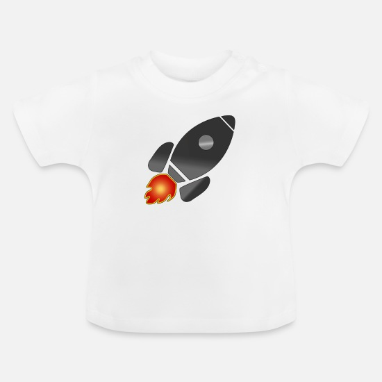 8369a49b0 Astronaut Baby Clothes - Rocket rocket ship space astronaut - Baby T-Shirt  white