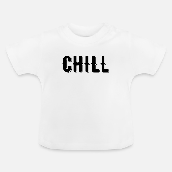 Bed Baby Clothes - Chill - Baby T-Shirt white