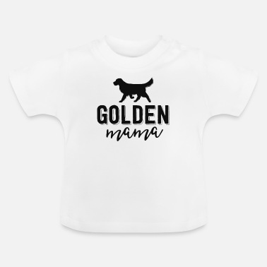Dog Floral Dog Mom Shirts For Women Gift Golden - Baby T-Shirt