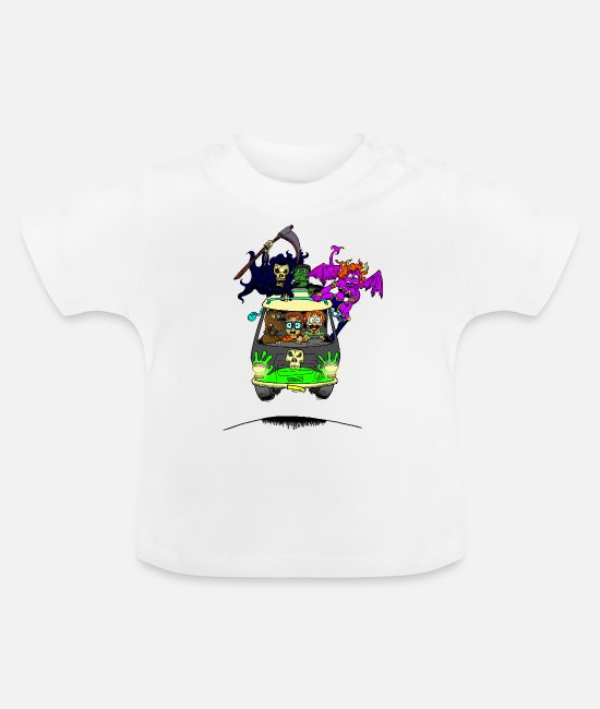 Horror Baby T-Shirts - No Scooby fan art final - Baby T-Shirt white