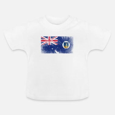 National Team Montserrat Flag - Vintage Grunge - Baby T-Shirt