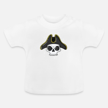 Pirate Flag Pirate skull with a cool pirate hat - Baby T-Shirt
