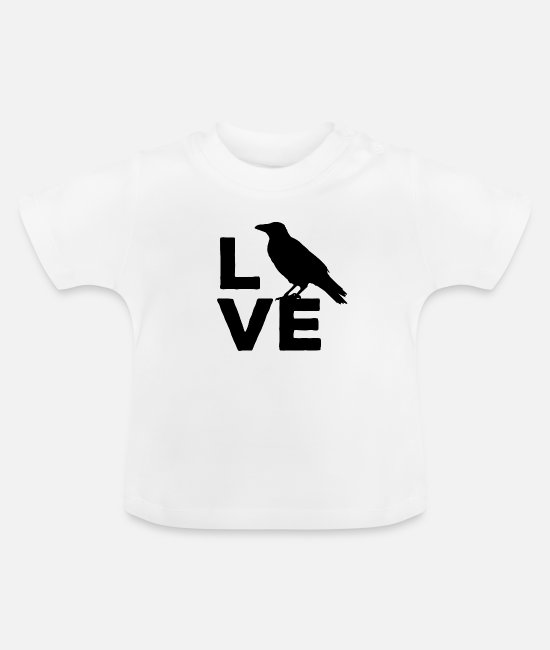 Clever Baby shirts - I Love Crows Ravens & Clever Birds - Baby T-shirt wit