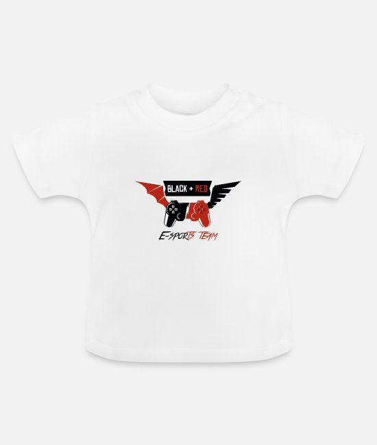 Game Baby T-Shirts - Black + Red --- E-sports team - Baby T-Shirt white