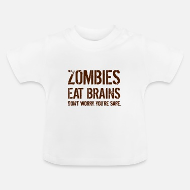 Zombie ZOMBIES EAT BRAINS - Baby-T-shirt