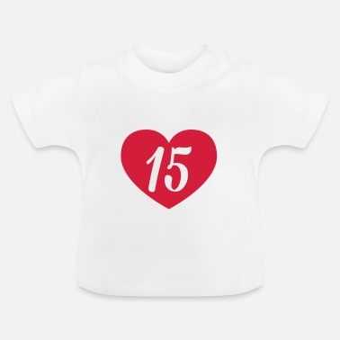 15th Birthday 15th birthday heart Shirts - Baby T-Shirt