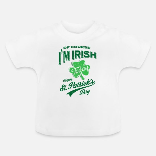 St Patricks Day Baby Clothes - St. Patrick's Day 01 Tees - Baby T-Shirt white