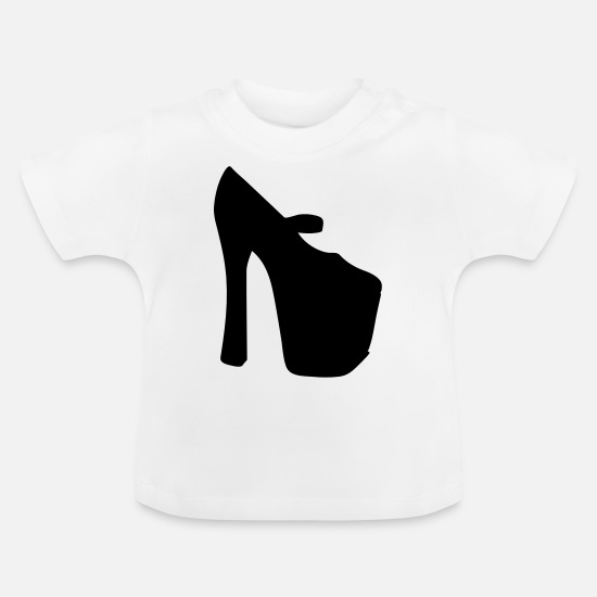 Woman Power Baby Clothes - Vector highheels Silhouette - Baby T-Shirt white